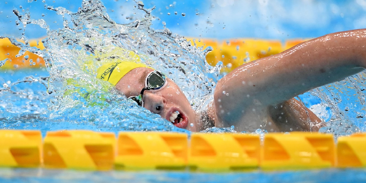 Swimming: Lucky took gold by eight hundredths of a second.