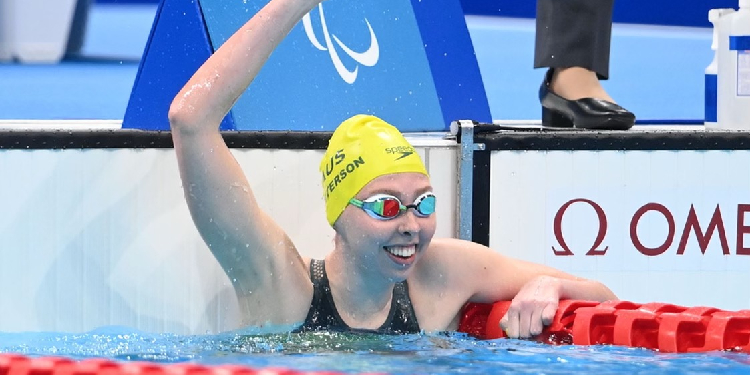 """Victory: Lucky's mum Sherryn said it was important for people to learn the stories of all these different athletes """"and be inspired by them so these athletes and people with disabilities can be integrated into normal life""""."""