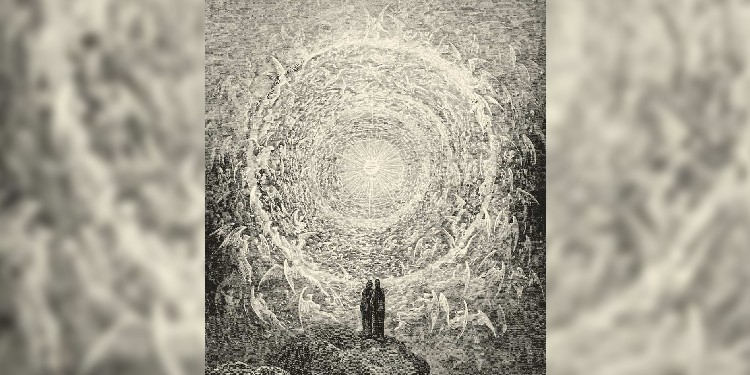 Heaven: Gustav Dore's depiction of Paradise alive with the choirs of the angels from Dante's Paradiso.