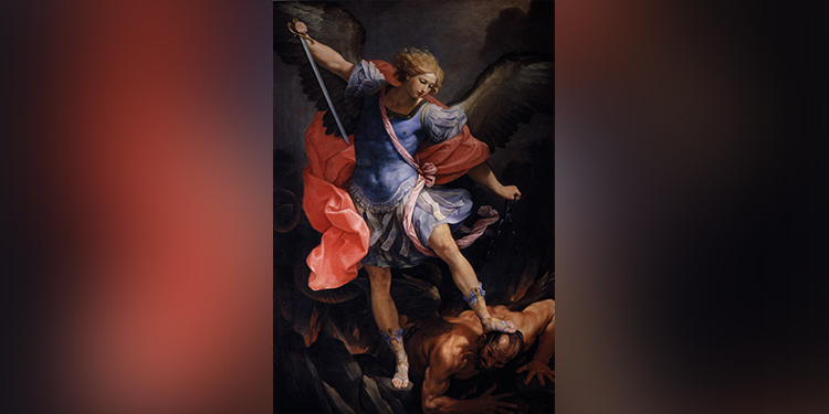 Heavenly host: St Michael the Archangel depicted defeating Satan.
