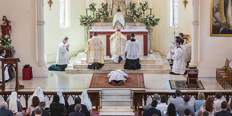 Ordination: Fr Power was ordained in front of a fully-booked Mass with more than 200 people in attendance.