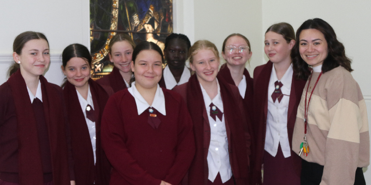 Following Christ: St Mary's College campus minister Felicity Jones (right) with members of the Ipswich RCIT program.