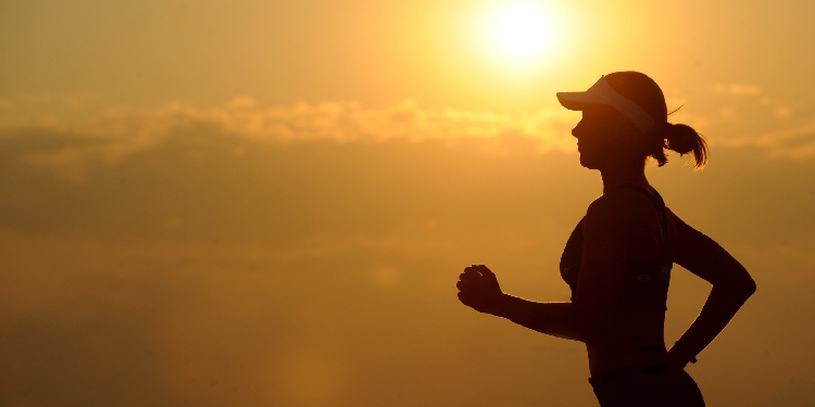 Keeping active: Exercise and eating well lead to a healthier mind.